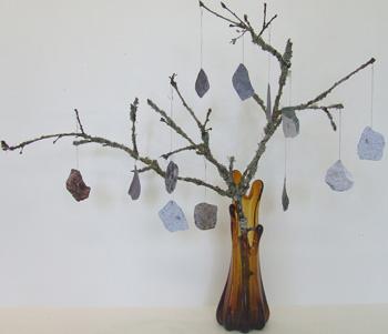 Free science activity, Tree limb rock art.