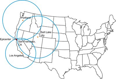 Finding epicenter of an earthquake, USGS