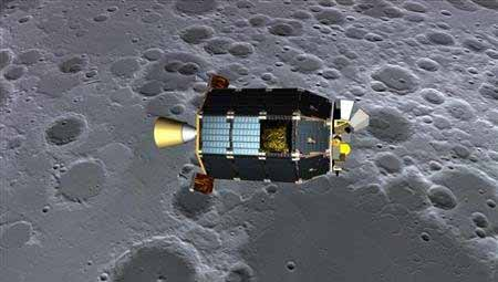 The space craft LADEE is studying the dust on the Moon. NASA