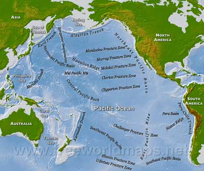 Map Pacific Ocean basin