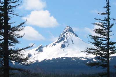 Mt. Washington, a shield volcano in the Cascade Mountains
