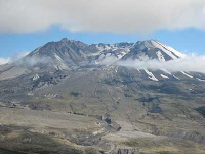 Mt. St. Helens over 30 years after May 18th 1980 eruption