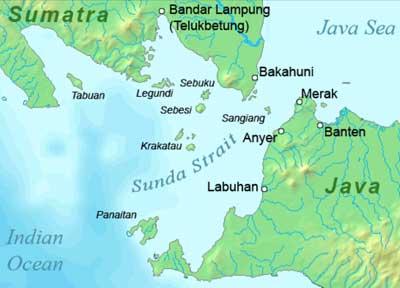 Krakatoa, Sunda Strait
