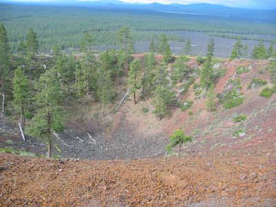 Lava Butte summit crater