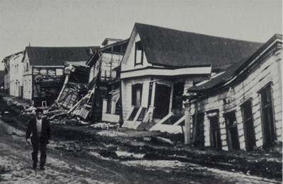 1960 Chile earthquake destruction. USGS