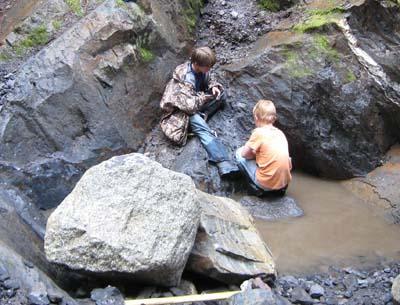 Garnet ledges near Wrangell, Alaska
