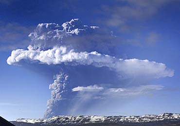 Grimsvotn Volcano, Iceland's most active volcano. USGS